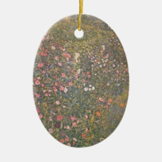 Ornement Ovale En Céramique Gustav Klimt - paysage horticole italien