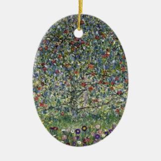 Ornement Ovale En Céramique Gustav Klimt - peinture de pommier
