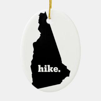 Ornement Ovale En Céramique Hausse New Hampshire