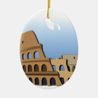 Ornement Ovale En Céramique Histoire antique Italie de Colisé de Coliseo Roma
