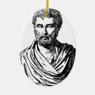 Ornement Ovale En Céramique Historien de Grec de buste de Herodotus