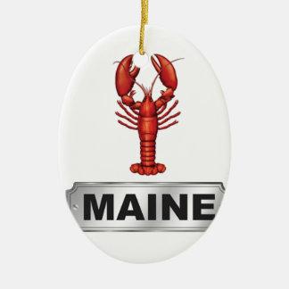 Ornement Ovale En Céramique Homard du Maine