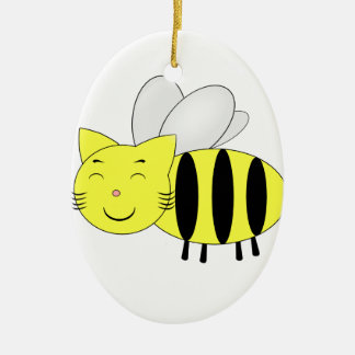 Ornement Ovale En Céramique Honeycat