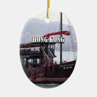 Ornement Ovale En Céramique Hong Kong : Ordure chinoise