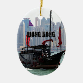 Ornement Ovale En Céramique Hong Kong : Ordure chinoise 2