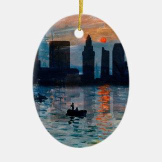 Ornement Ovale En Céramique Horizon 7 de Miami
