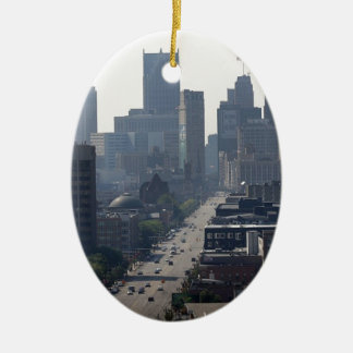 Ornement Ovale En Céramique Horizon de Detroit Michingan