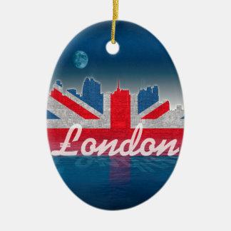 Ornement Ovale En Céramique Horizon de Londres