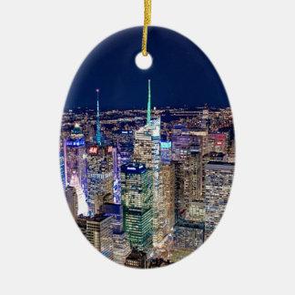 Ornement Ovale En Céramique Horizon de New York City