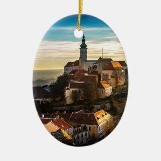Ornement Ovale En Céramique Horizon de République Tchèque