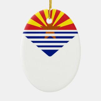 Ornement Ovale En Céramique I coeur Arizona