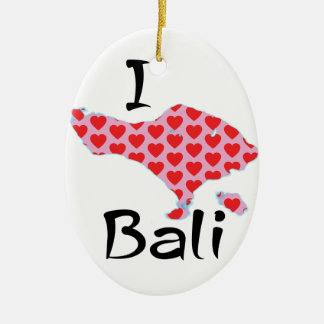 Ornement Ovale En Céramique I coeur Bali