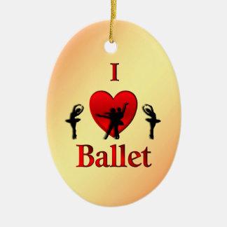 Ornement Ovale En Céramique I Noël de ballet de coeur