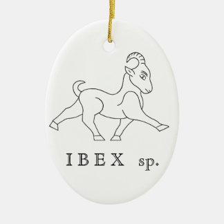 Ornement Ovale En Céramique Ibex sp. Bouquetin