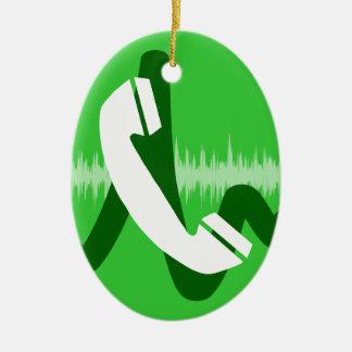 Ornement Ovale En Céramique Icône d'appel téléphonique