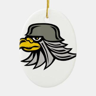 Ornement Ovale En Céramique Icône d'Eagle de fer