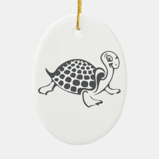 Ornement Ovale En Céramique Illustration de tortue et de Hughes