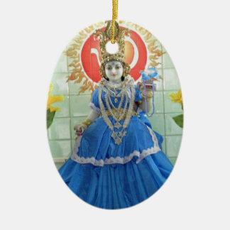 Ornement Ovale En Céramique Images de Durga NavDurga de déesse