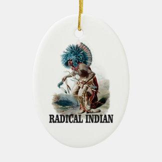 Ornement Ovale En Céramique Indien radical