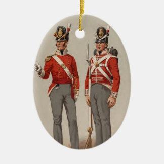 Ornement Ovale En Céramique Infanterie britannique
