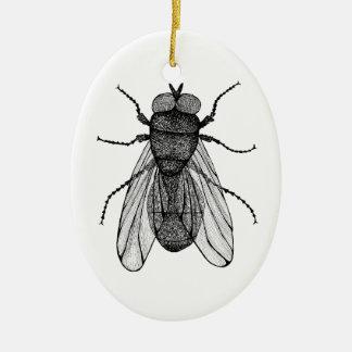 Ornement Ovale En Céramique Insect
