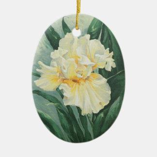 Ornement Ovale En Céramique Iris 0434 crème