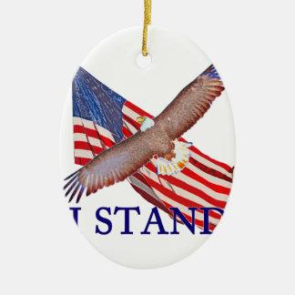 Ornement Ovale En Céramique je représente l'Amérique