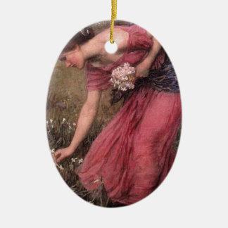 Ornement Ovale En Céramique John William Waterhouse - narcisse - beaux-arts