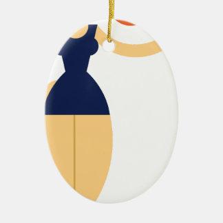 Ornement Ovale En Céramique Jolie femme