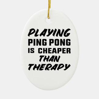 Ornement Ovale En Céramique Jouer au ping-pong est meilleur marché que la