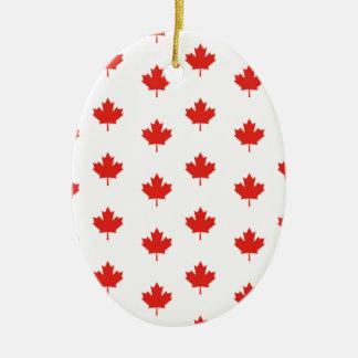 Ornement Ovale En Céramique Jour de nation de pays d'emblème du Canada de