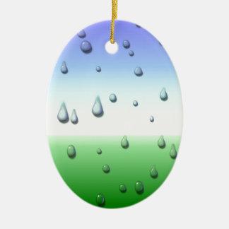 Ornement Ovale En Céramique Jour pluvieux