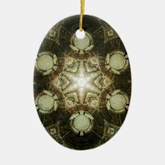Ornement Ovale En Céramique Kaléidoscope de bibliothèque de Dowtown Kansas