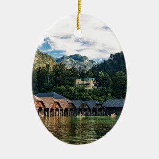 Ornement Ovale En Céramique Konigssee, lac des rois. L'Allemagne