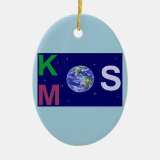 Ornement Ovale En Céramique Kosmos étoilé