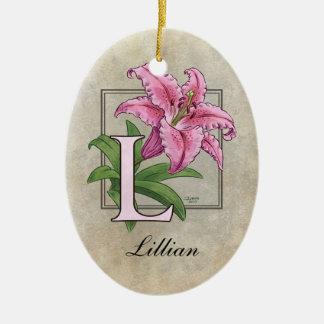 Ornement Ovale En Céramique L pour le monogramme de fleur de lis