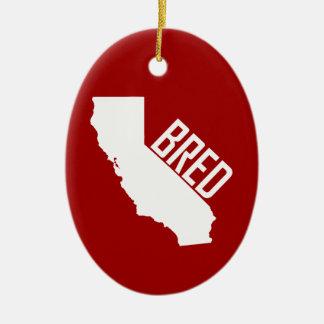 Ornement Ovale En Céramique La Californie a multiplié