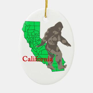 Ornement Ovale En Céramique La Californie Bigfoot