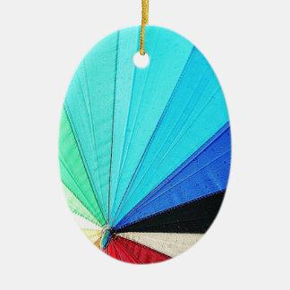 Ornement Ovale En Céramique la conception de tissu de couleurs en pastel