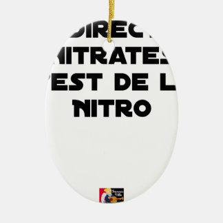 Ornement Ovale En Céramique La Directive Nitrates, c'est de la Nitro - Jeux de