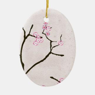 Ornement Ovale En Céramique la fleur antique 1 des fernandes élégants
