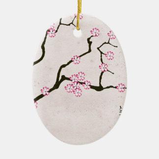 Ornement Ovale En Céramique la fleur antique 4 des fernandes élégants