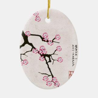 Ornement Ovale En Céramique la fleur antique 6 des fernandes élégants