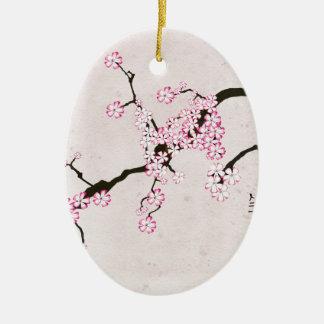 Ornement Ovale En Céramique la fleur antique 9 des fernandes élégants