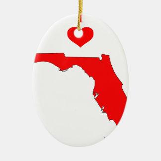 Ornement Ovale En Céramique La Floride