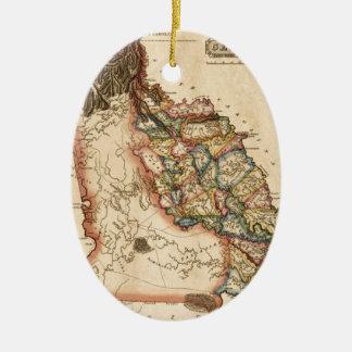 Ornement Ovale En Céramique La Géorgie 1817