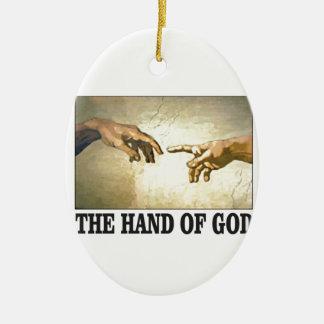 Ornement Ovale En Céramique la main d'un dieu