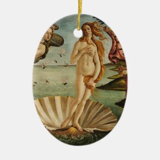 Ornement Ovale En Céramique La naissance de Vénus - Sandro Botticelli