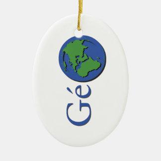 Ornement Ovale En Céramique la planète terre - géographie