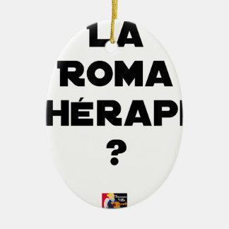 Ornement Ovale En Céramique La Roma Thérapie - Jeux de Mots - Francois Ville